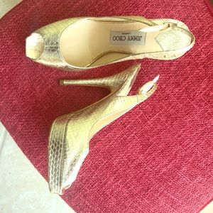 Gold Jimmy Choos size 36.5